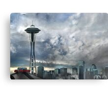 Sweetly Seattle ... Seattle Rain Series Metal Print
