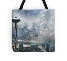 Sweetly Seattle ... Seattle Rain Series Tote Bag