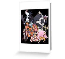 one piece warlords mihawk doflamingo kuma boa hancock moria jimbe anime manga shirt Greeting Card