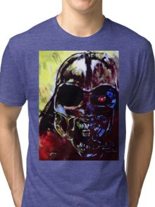 Darth Vader Alien Terminator Mashup Tri-blend T-Shirt
