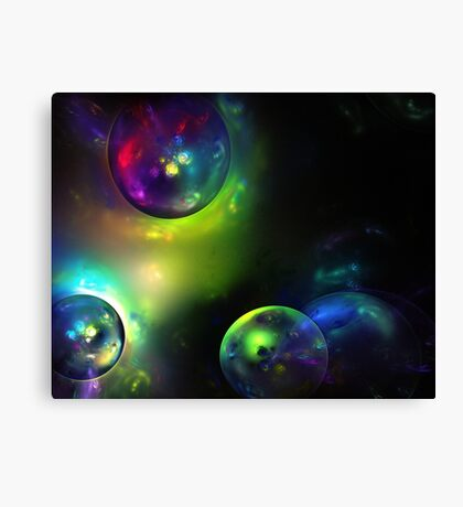 Color Abstract soap bubble fractal background Canvas Print