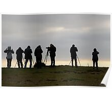 A group of Photographers. Poster