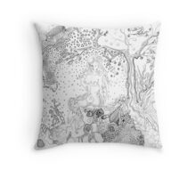 Still Point in a Sea Change (Contemplating Eve) Throw Pillow