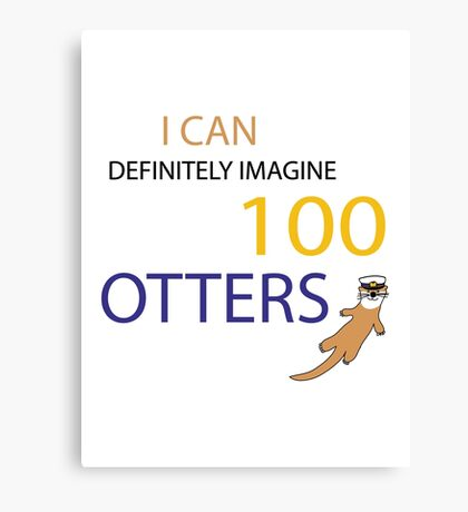 100 Otters Canvas Print
