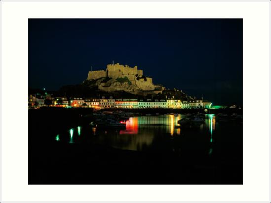 Mt.Orgueil Castle & Gorey Harbour, Jersey by David A. L. Davies
