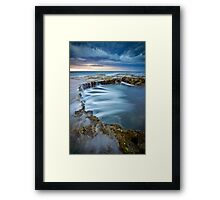look deep into my pool Framed Print