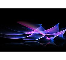 Digital art abstract composition on black Photographic Print