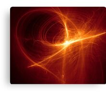orange Abstract background on black tone Canvas Print