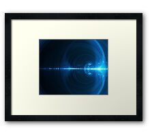 Abstract background in blue tones on black tone Framed Print