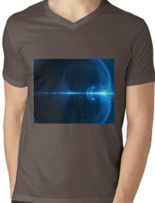 Abstract background in blue tones on black tone Mens V-Neck T-Shirt