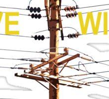 Caution - Live Wire Sticker