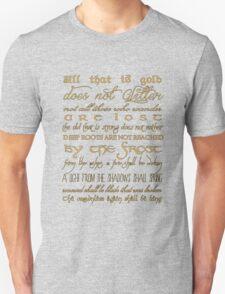 Riddle of Strider Poem T-Shirt