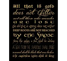 Riddle of Strider Poem Photographic Print