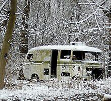 Hello Earthlings, RV in the Snow by kelleygirl