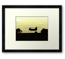 Chinnook in the hover Framed Print