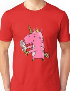 Unicorn and ice cream Unisex T-Shirt