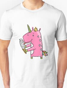 Unicorn and ice cream Unisex T-Shirt