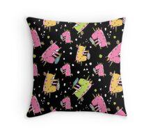 Unicorn and ice cream Throw Pillow