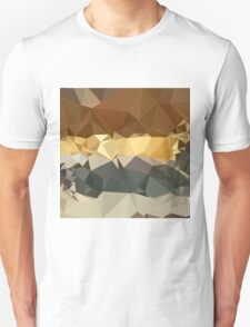 French Beige Abstract Low Polygon Background T-Shirt