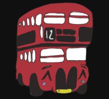 Cute London Bus One Piece - Short Sleeve