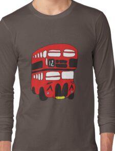 Cute London Bus Long Sleeve T-Shirt