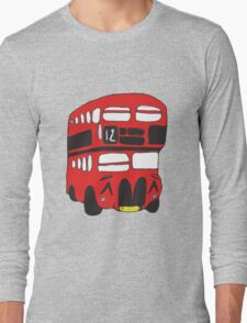 Cute London Bus Long Sleeve T-Shirt