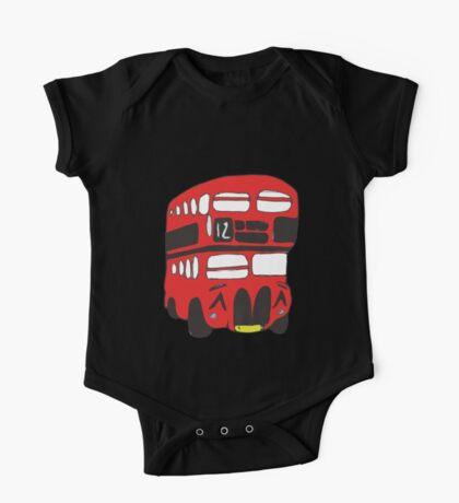 Cute London Bus One Piece - Short Sleeve