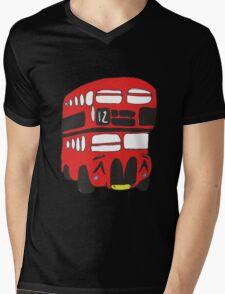 Cute London Bus Mens V-Neck T-Shirt