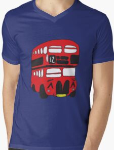 Cute London Bus Mens V-Neck T-Shirt