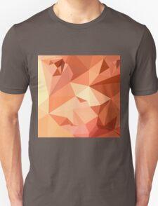 Tango Orange Abstract Low Polygon Background T-Shirt