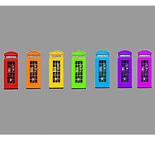 Rainbow Phone boxes  Photographic Print