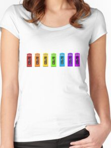 Rainbow Phone boxes  Women's Fitted Scoop T-Shirt