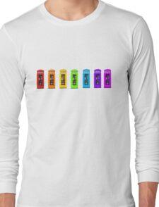 Rainbow Phone boxes  Long Sleeve T-Shirt