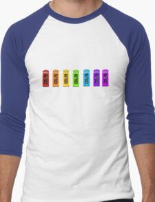 Rainbow Phone boxes  Men's Baseball ¾ T-Shirt