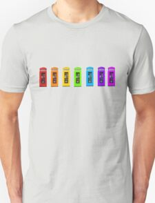 Rainbow Phone boxes  T-Shirt