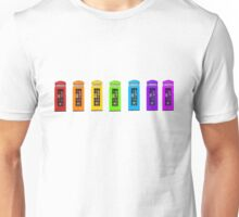 Rainbow Phone boxes  Unisex T-Shirt