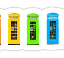 Rainbow Phone boxes  Sticker