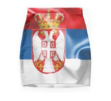 Serbia Flag Mini Skirt