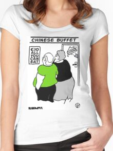 All You Can Eat For A Tenner. Women's Fitted Scoop T-Shirt