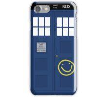 Wholock phone case - TARDIS & smiley face iPhone Case/Skin