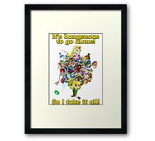 Link takes it all Framed Print