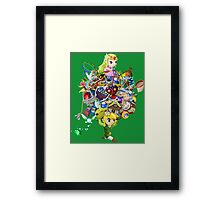 Link takes it all (w/o text) Framed Print