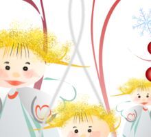 Cute angels Tee Sticker