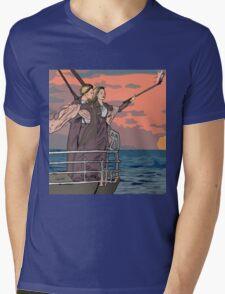 Titanic selfie Mens V-Neck T-Shirt