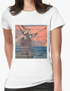 Titanic selfie Womens Fitted T-Shirt