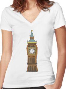 Cute Big Ben Tee Women's Fitted V-Neck T-Shirt