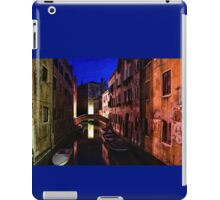 Impressions of Venice - Wandering Around the Small Canals at Night iPad Case/Skin