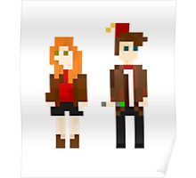 Eleven and Amy Pixel Poster