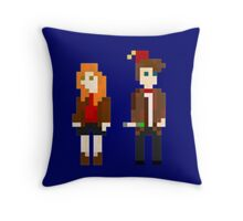 Eleven and Amy Pixel Throw Pillow