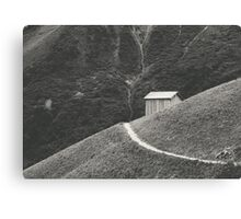 HILLSIDE HUT Canvas Print